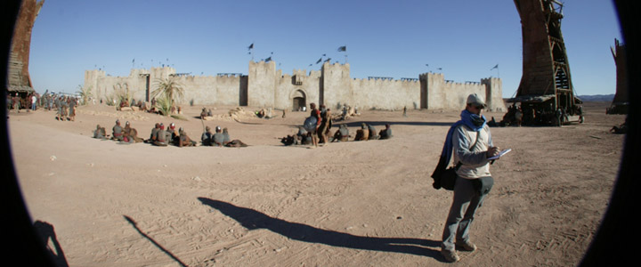 On location for Kingdom of Heaven in Morocco